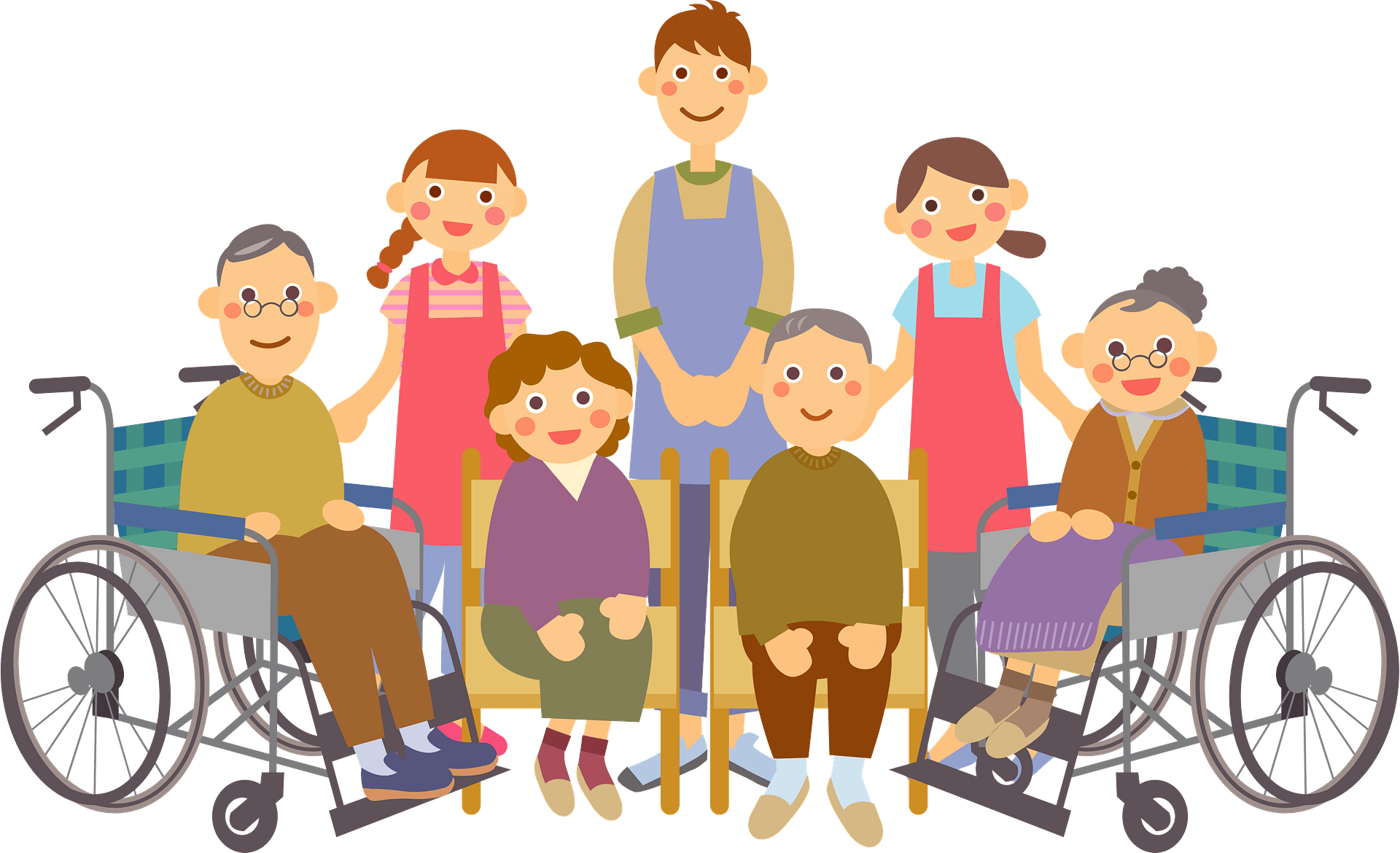 Elderly Care In A Nursing Home Clipart Free Download Transparent Png Creazilla