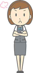 (Ingrid) Office Lady is Angry clipart