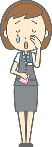 (Ingrid) Office Lady is Crying clipart