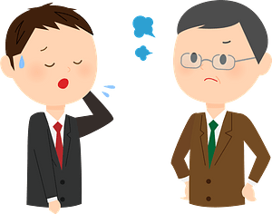 (Andrew and Scott) Office Worker is Getting Mad clipart