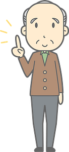 (Sam) Old Man is Giving Advice clipart