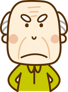 (Arnold) Old Man Grandfather is Angry clipart