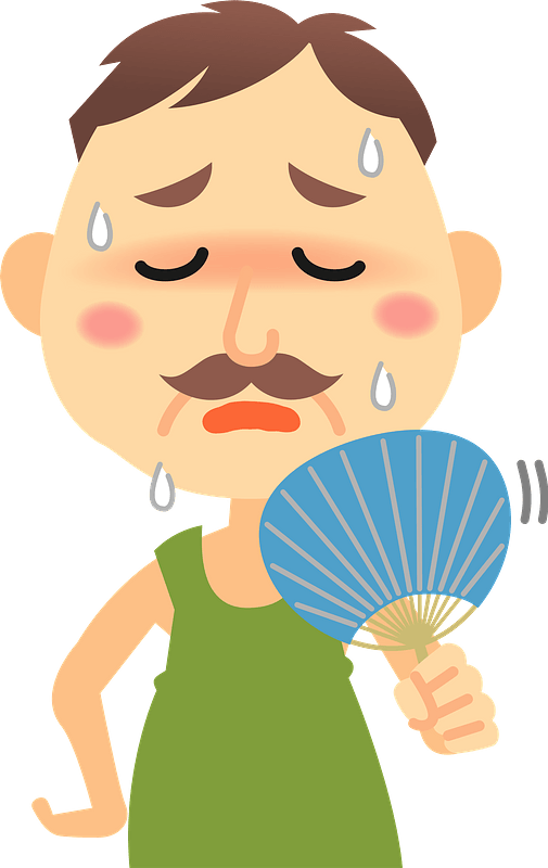 Sweating Png - Transparent Clipart Man Sweating , Free Transparent Clipart  - ClipartKey