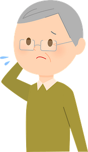 (Ernie) Old Man is Troubled clipart
