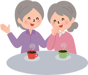 (Esther and Ruby) Old Women are Having a Conversation clipart