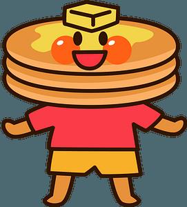 Pancake Character clipart