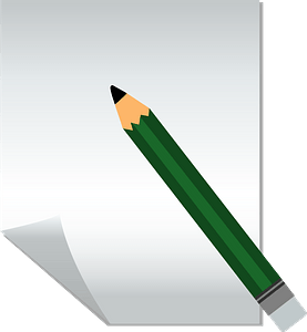 Green Pencil and Paper clipart