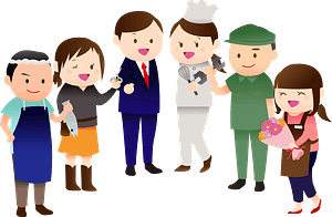 People with Different Professions clipart