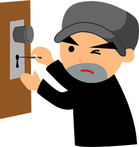 Criminal is Picking the Lock clipart