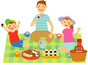 Family is Eating a Picnic clipart