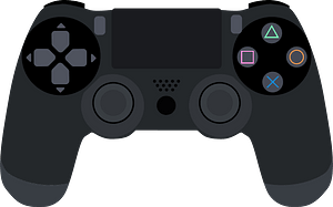 Playstation4 Controller Game clipart