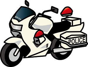 Police Motorcycle clipart