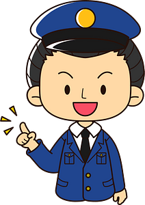 Policeman is Giving Advice clipart