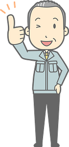 (Matt) Businessman is Giving a Thumbs Up clipart