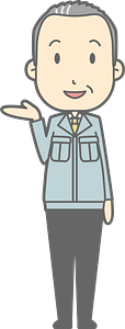(Matt) Businessman Acting as a Guide clipart