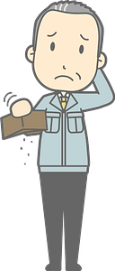 (Matt) Businessman Has No Money clipart