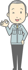 (Matt) Businessman is Giving an Ok Sign clipart