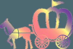 Pumpkin-Shaped Carriage clipart