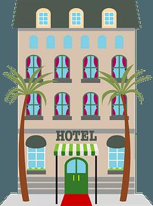 Resort Hotel clipart