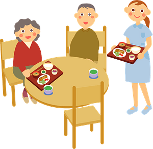 Meal Served at the Retirement Home clipart