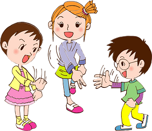 Children are Playing Rock, Paper, Scissors clipart