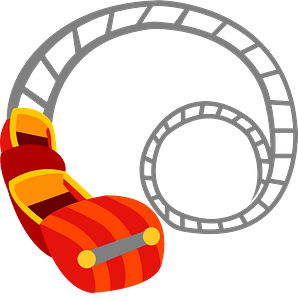 Roller Coaster Amusement Ride clipart