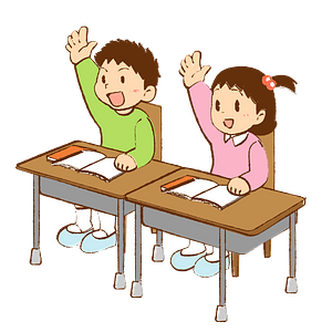 Schoolboy and Schoolgirl are in Class clipart