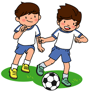 Schoolboys Playing Soccer clipart