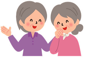 (Esther and Ruby) Senior Women Having a Conversation clipart