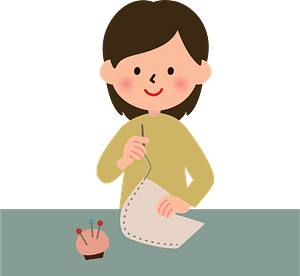 Sewing Woman clipart