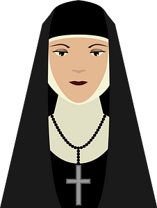 Sister in Christianity clipart
