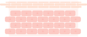 Layers of Skin - like brick wall clipart