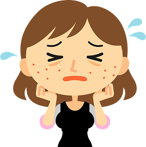 Woman with Skin Trouble clipart