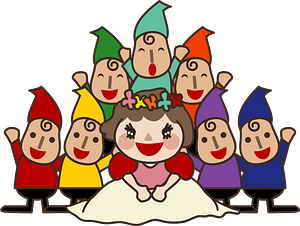 Snow White and the Seven Gnomes clipart