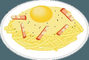 Spaghetti Alla Carbonara clipart