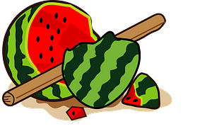 Suikawari Watermelon clipart