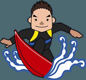 Surfing Man clipart