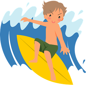 Surfer Is Surfing clipart