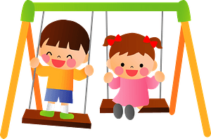 Children Swinging clipart