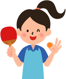 Table Tennis Player Is Winking clipart
