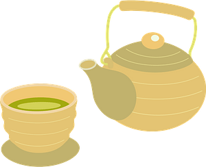 Tea Pot and Bowl clipart