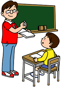 Teacher and Student clipart