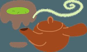 Teapot for Green Tea clipart