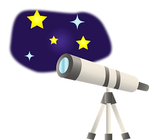 Telescope to see Stars clipart
