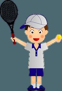 Boy Tennis Player clipart