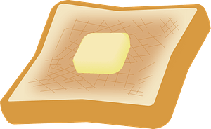 Toasted Bread with Butter clipart