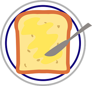 Toast with Butter clipart