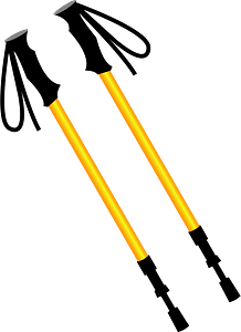 Trekking Poles clipart