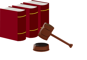 Trial Statute Books and Gavel clipart