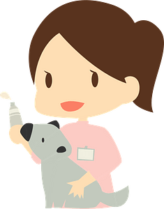 Veterinarian Woman with Dog clipart